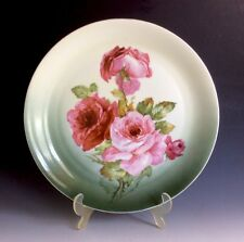 Antique Z. S & Co Bavaria Porcelain Hand Painted Rose Pattern Platter 12""