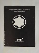 Montblanc Pen and Accessory Retail Dealer Price List Vintage 1993 Tri-Fold M1933