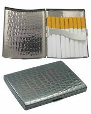 Metal Cigarette Case King Size Textured Black Plated Gift Box C882