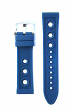 22MM BLUE RUBBER DIVER WATCHBAND STRAP FOR BREITLING SUPEROCEAN PORTHOLE