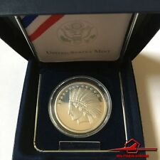 "SilverTowne ""Indian Head/ American Eagle"" 1 Troy Oz .999 Fine Proof Silver. Box."