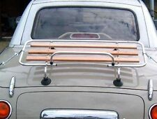 Mazda MX5 MK 1/2/ Nissan Figaro Classic Luggage Boot rack Stainless Steel & Wood