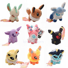 Set of 9 pcs Pokemon Plush Toy Doll   Eevee Leafeon Umbreon Jolteon Sylveon 5''