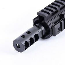 New Gen Stainless Steel .223 1/2x28 Competition Short Muzzle Break with Jam Nut