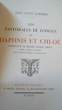 COURIER PAUL-LOUIS Les pastorales de Longus ou Daphnis etr Chloé        PIAZZA