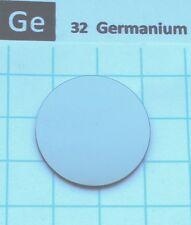 "2.6g 99.999% Germanium ""Metal"" Disk 25 x 1 mm - Pure Element 32 sample"