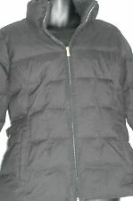 Weatherproof Down Feathers Quilted Puffer Full Zip Jacket Coat L Black EUC