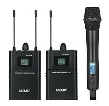 ACEMIC UHF 600-928MHz True diversity Wireless Mic handheld Microphone Camera SLR