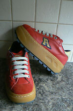 ART RED PLATFORM SHOES/TRAINERS- RETRO - UK4/EU37 **FAB CONDITION**