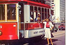 CP / POSTCARD / ILLUSTRATEUR / THE CAR / VOITURE / DETROIT TRAMWAY PAR BERTRAND