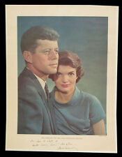 Jacqueline and John F. Kennedy Inscirbed Photo by Yousuf Karsh