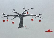 Joung Eun Ramaker The apple tree embossed Takbon print hand signed Korean Artist