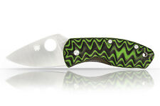 Cusom Scales Spyderco Ambitious G10 GREEN/BLACK (GRIPS ONLY) (Grooved)