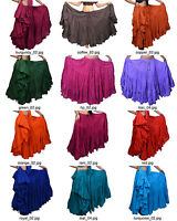 Wevez 25 Yard Cotton Skirt for Tribal Gypsy Belly Dancing