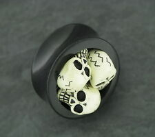 TOTENKOPF Plug Oldschool Piercing 18MM Ohrring Tunnel Skull Ohrpiercing