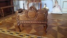 Miniature Dollhouse Artisan John Masterman Magazine Rack w/ Hidden Drawer 1:12