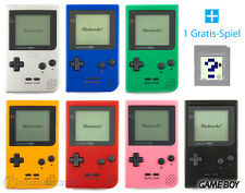 GameBoy pocket Console (Colour By Choice) + FREE Nintendo GB Game TOP
