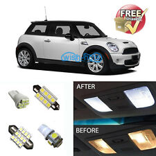 8Pcs White LED Lights Interior Package Kit for Mini Cooper R56 2007-2012