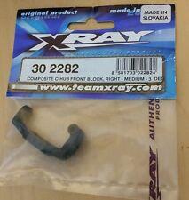 XRAY T2 COMPOSITE C HUB FRONT BLOCK RIGHT MEDIUM 3 DEGREE 30 2282 NIB