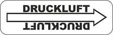 20 x Rohrleitungskennzeichnung Fließrichtung Druckluft Pressluft Leitung 80x25mm