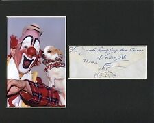 Lou Jacobs Ringling Bros Barnum & Bailey Clown Signed Autograph Photo Display