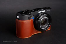 Handmade Genunie real Leather Half Camera Case Camera bag cover for Samsung EX2F