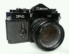 Canon F -1 vintage SLR, with Canon FD 50mm 1:4 lens.
