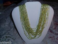 Exquisite JOAN RIVERS 23 Strand Light Green Torsade Necklace   NEW
