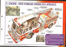 Fire engine New York American LaFrance ALF Rescue  USA FICHE Pompier FIREFIGHTER