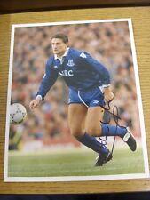 """1992/1993 AUTOGRAFO: Everton-Hinchcliffe, Andy [Firmato a Mano 7.5""""x 9.5"""" originari"""