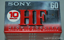 Sony HF 60 Normal Bias Audio Cassette Tapes C-60HFC - Lot of 10 SEALED!