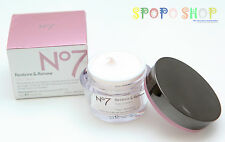 BOOTS No7 Restore & Renew Day Cream (50ml) 100% Authentic for Mature Skin Age50+
