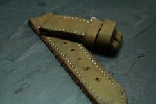 26mm leather watch strap Vintage Khaki Tan NOS - ZTRITIUM Vintage for Panerai
