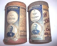 2 EARLY EDISON PHONOGRAPH 2m CYLINDER RECORDS OB + RECORD SLIPS  #2 + #589