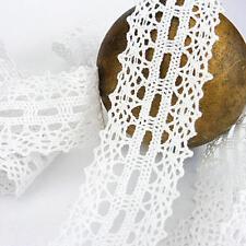 Buddly Crafts 30mm occhielli cotone uncinetto pizzo-Bianco 1m