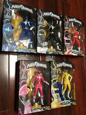 "RED YELLOW BLUE BLACK PINK POWER RANGERS LEGACY 6"" Action Figure WAVE 2 MMPR SET"