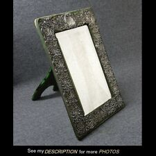 Great Ornate Repousse Black Starr & Frost Sterling Silver MIRROR easel back