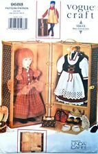 "Vogue 9688 613 18"" Girl Doll Pattern Travel Trunk Accessories by Linda Carr"