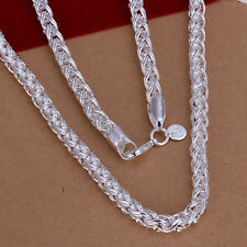 hot! wholesale Sterling solid silver fashion jewelry Chain Necklace XLSN083