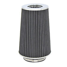 "Black Univeral Cone Intake Air Filter 10.6"" L x 6"" W Inlet 3"" 3.5"" Or 4"" large"