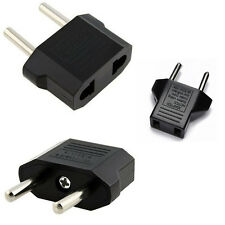 3PK Plug Adapter USA, CANADA to EU Europe / 110V to 220V / Travel Converter