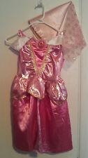 Girls-Disney-Princess-Aurora-Dress-&-Hat-Size-4-6X-Pink-Dress-Up-Pretend-Costume