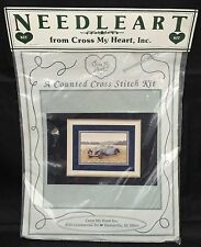 Cross My Heart Needle Art Cross Stitch Heirloom Kit Antique Car New, Sealed