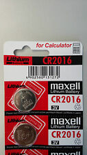 2 NEW CR2016 MAXELL BATTERY - Free Shipping Worldwide - Expiration Year: 2024