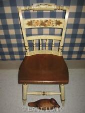 Lambert Hitchcock Inn Chair Hand Decorated Ivory and Maple Colonial Design