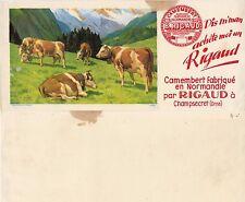 Papel secante. Camembert B. Rigaud. Años 50. 237x106 mm.