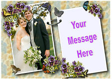 Own photo picture personalised Butterfly wedding anniversary A4 cake topper