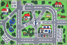 "3x5  Area Rug  Street  Car Policeman Kids  Play Fun Time Roads & Maps 3'3""x4'10"""