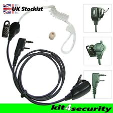Icom two wire door supervisors bouncer  ear piece earpiece with small PTT