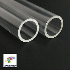 Tube Clear 20mm OD x 16mm ID x 50mm Length Acrylic Perspex Plexiglass Plastic